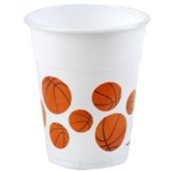 Basketball Plastic Cups 14oz. Dozen 3840D