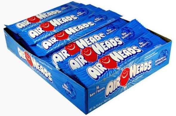 Airheads Blue Raspberry Bar Bulk 36 Count 11012