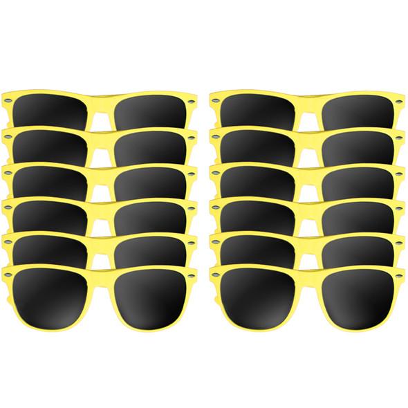 A dozen yellow wayfarers