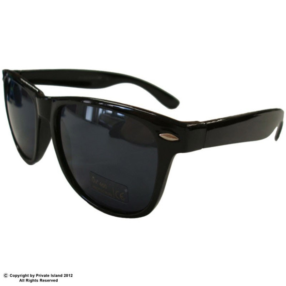 Black Sunglasses Iconic 80's Style  - Superior Polycarbonate Adult Style 1051A