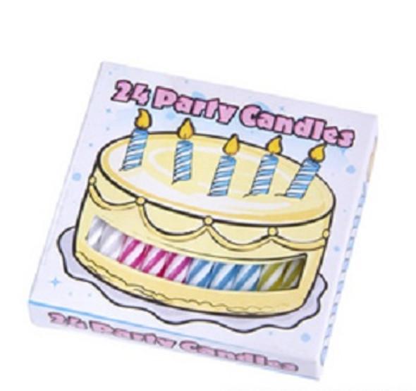 Birthday Candles Bulk Dozen Packs 24 Pcs 3869