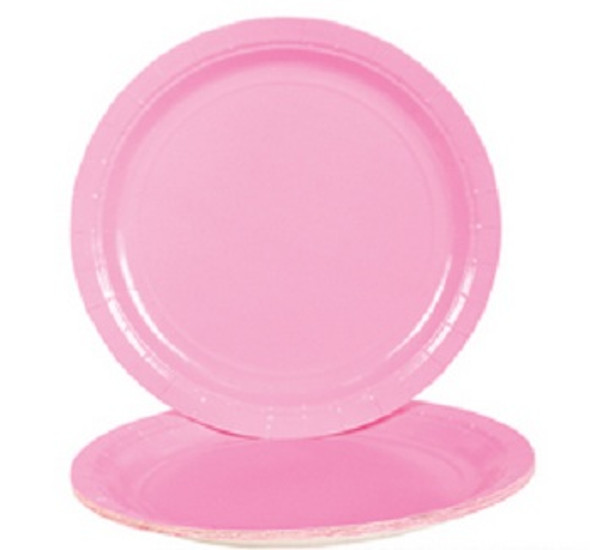 "Party Paper Plates Pink  9"" 20 Pack 3859"