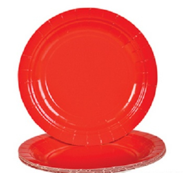 "Red Party Paper Plates  9"" 20 Pack 3857"
