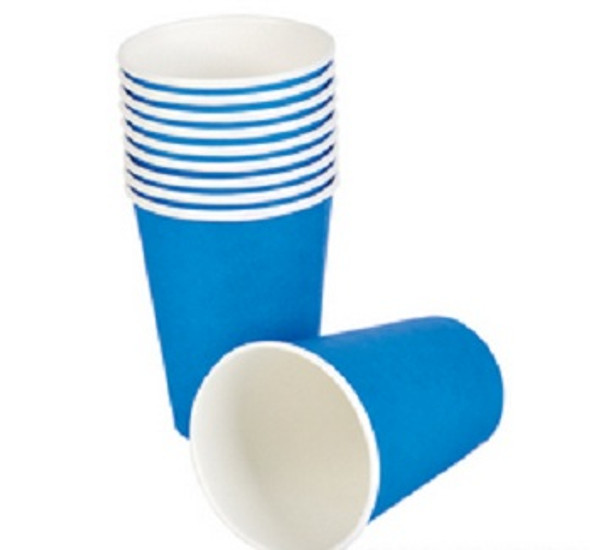 Party Paper Cups Blue 9 oz 12 Pack 3855