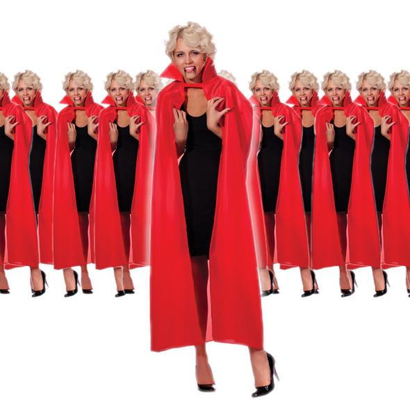 "12 PACK Adult Costume Cape Bulk 56"" Inch Cape Bulk Wholesale 4520D"
