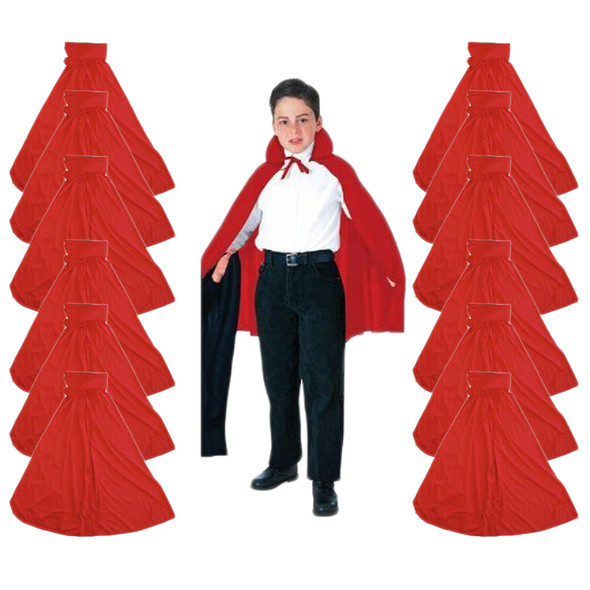 Child Cape Bulk Red 27' 12 PACK 4522D