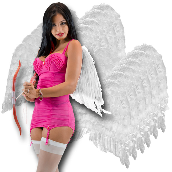 White Feather Wings Adult 12 PACK 4455D