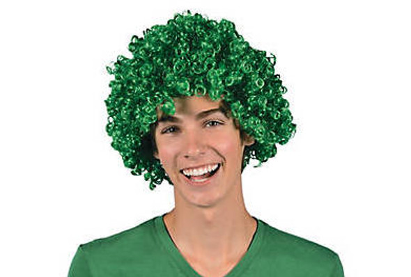 Wholesale St Patricks Day Wigs | Green Afro Wig 12 PACK 6012D