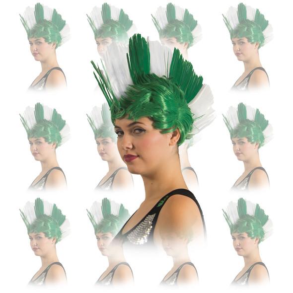St Patricks Day Irish Mohawk Wig 12PK  6029D