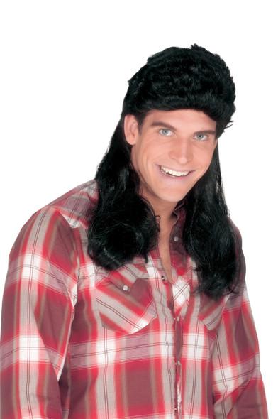 Black Mullet Wig 12 PACK 6040D