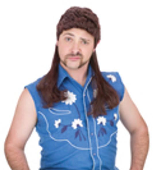 Brown Mullet Wig 12 PACK 6041D