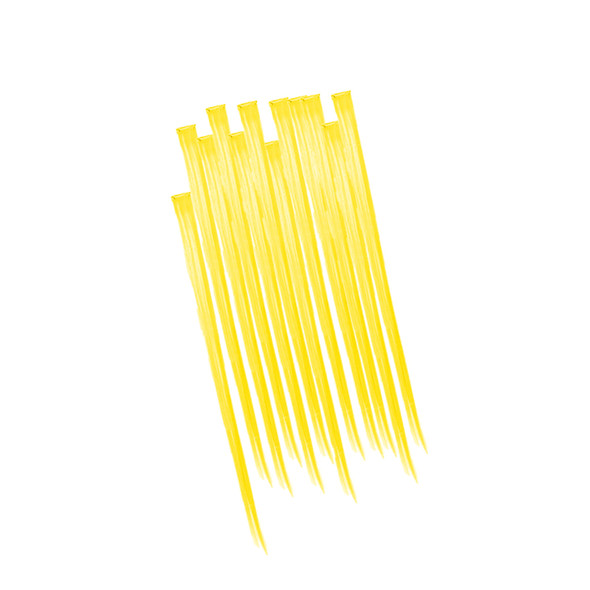 12 PACK Yellow Hair Extensions 6153D