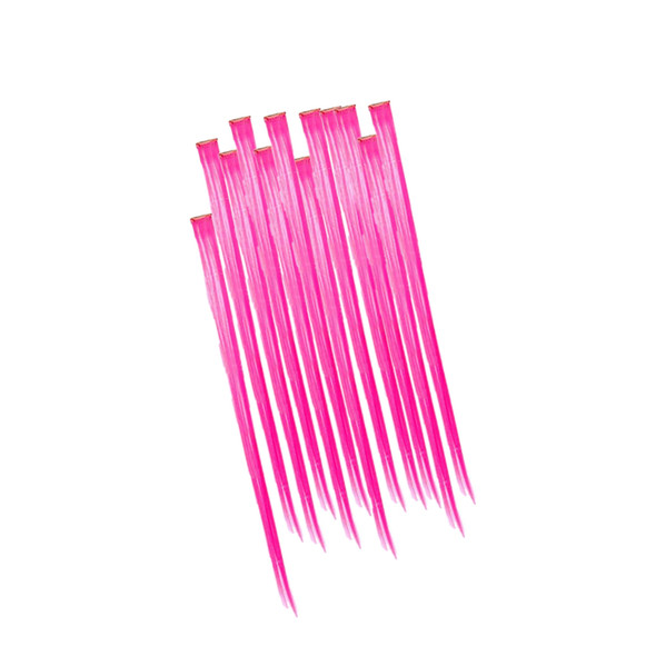 Hot Pink Hair Extensions 12PK  6154D