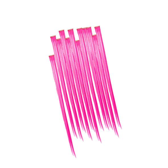 Hot Pink Hair Extensions 12PK  6154D
