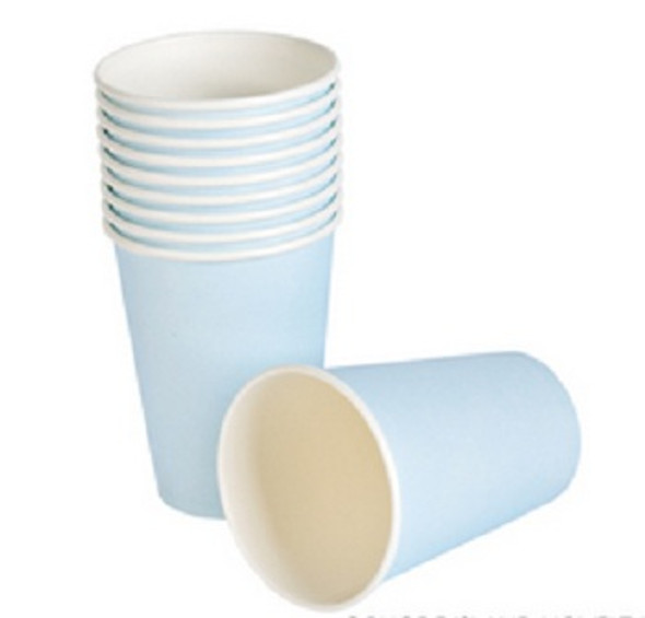 Party Paper Cups Light Blue 9 oz 12 Pack 3852