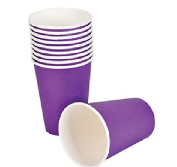 Party Paper Cups Purple 9 oz 12 Pack 3850