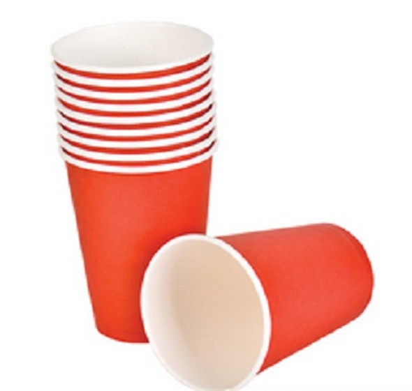 Party Paper Cups Red 9 oz 12 Pack 3849