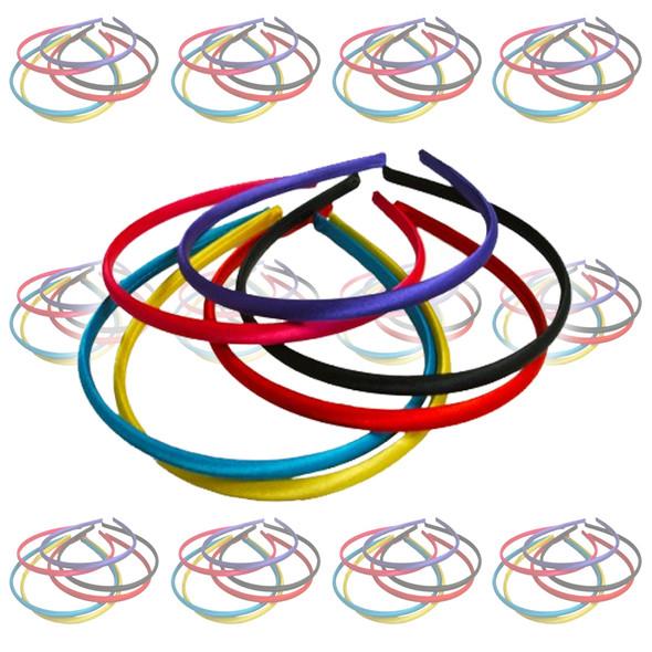 80's Headbands Mix Colors  Bulk Headbands 144 PC 6670D