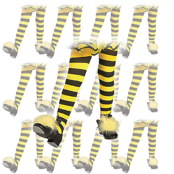 Bumblebee Tights Child Size 12 PACK 8005D
