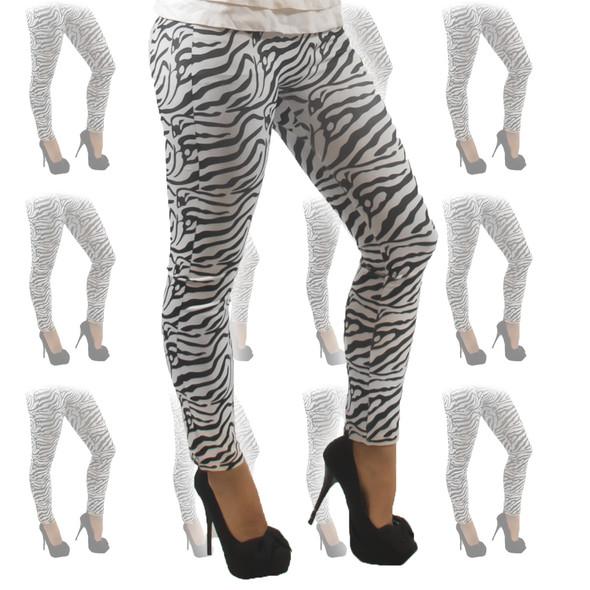 Zebra Print Leggings 12 PACK 8017D