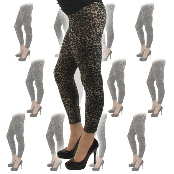 Leopard Print Leggings 12 PACK 8018D