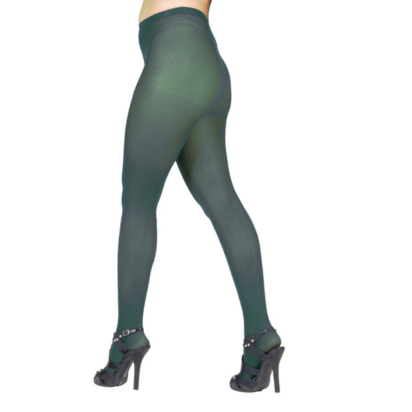 Hunter Green Opaque Pantyhose Tights  12 PACK 8061D