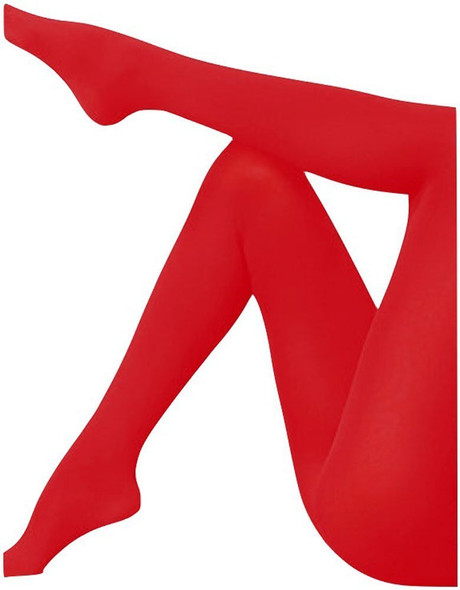 Super Control Top Opaque Red Tights 12 PACK 8064D
