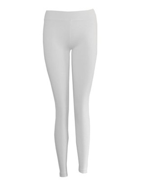 Premium Opaque White Footless Leggings Cotton/Polyester 12 PACK 8092D