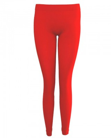 Premium Opaque Red Footless Leggings Tights Cotton/Polyester 12 PACK 8093D