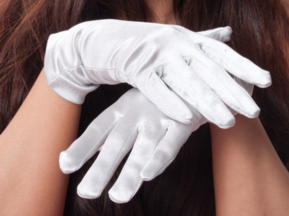 "Costume Gloves Satin Adult 12 PACK 3 COLORS  9""  WS1212D"
