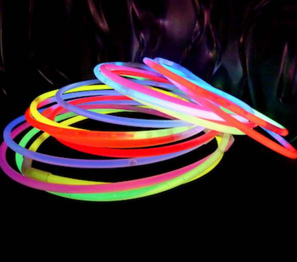Blue Glow Necklaces Tube 50 pcs 12025