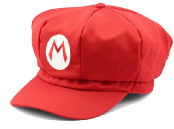 Super Mario Bros Costume Hat Red Adult 1452