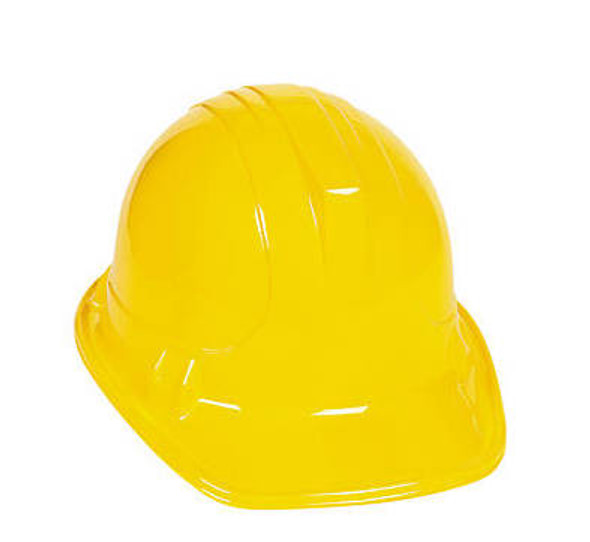 Plastic Child Construction Helmet Bulk 12 PACK 3 Colors 1554D