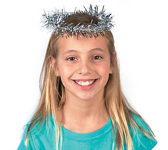 Tinsel Angel Halo 12 PACK 1685C