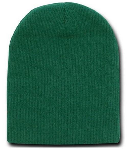 Beanie Cap Short Forest Green Hat 5740