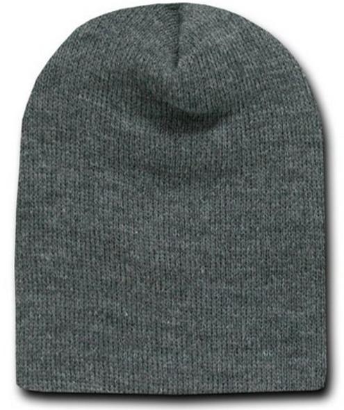 Short Beanie Dark Grey Charcoal 5741