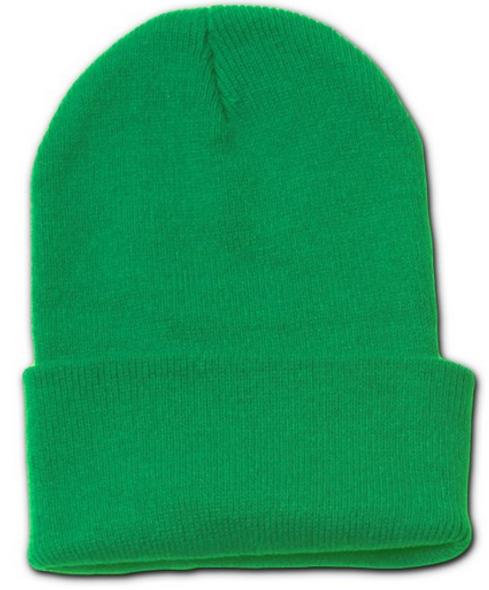 Beanie Long Hat Cap Kelly Green 5769