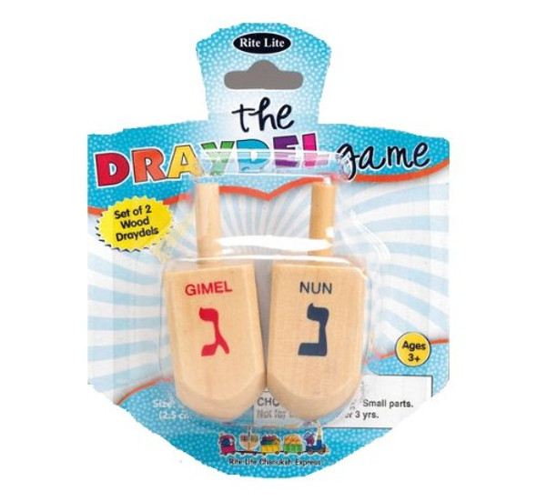 Hannukah Wood Draydel Game 9212