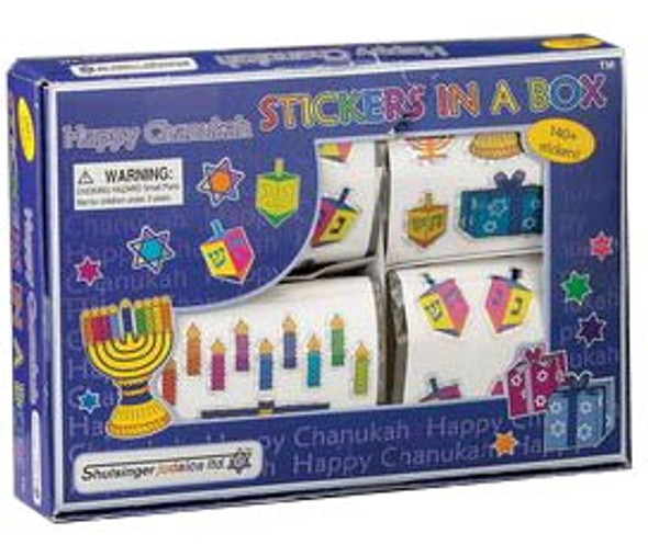 Happy Channukah Stickers 4 rolls 9209