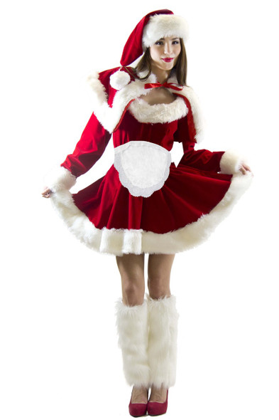 Mrs. Claus Santa Costume Apron 4051