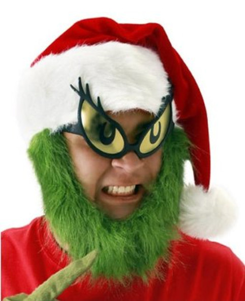 Grinch Hat w/ Beard Deluxe 5965