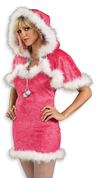Sexy Pink Christmas Capelet 4548