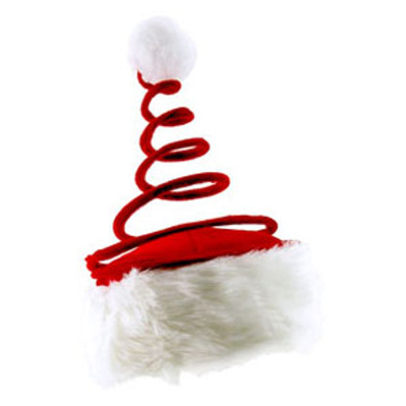 Santa hat with coil spring