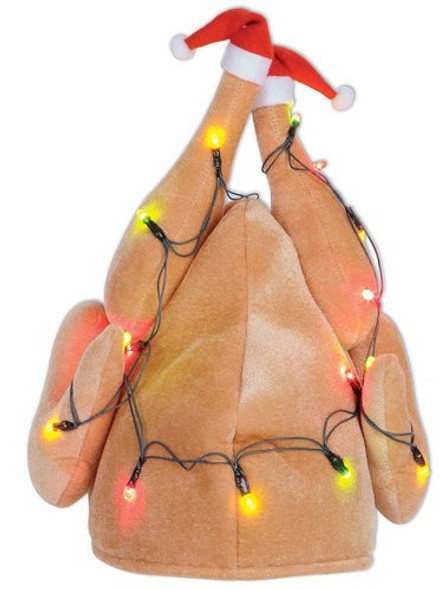 Light Up Turkey Hat Christmas 5968