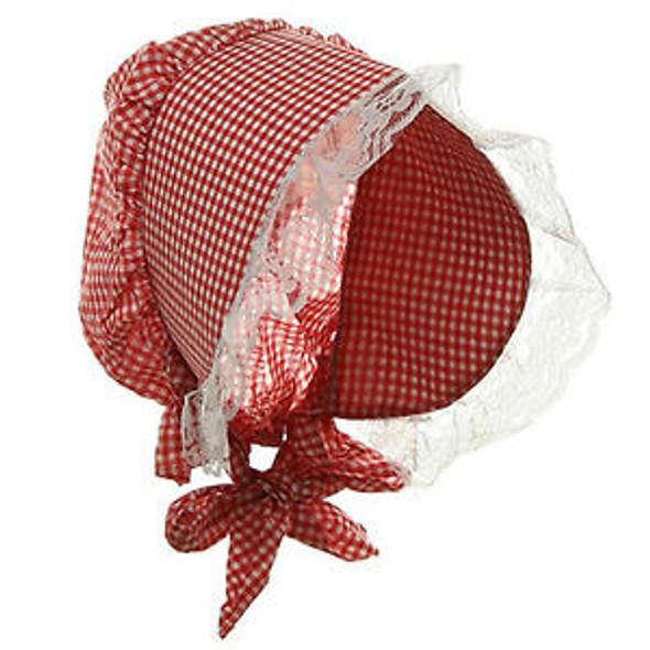 Gingham Bonnet Red 5970
