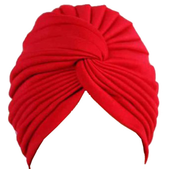 Red Turban Head Cover Hat 5975