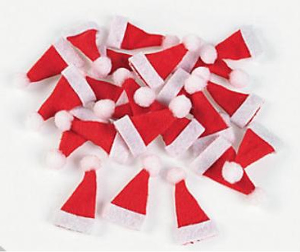 Mini Santa Hats Bulk 24 PACK  5980D