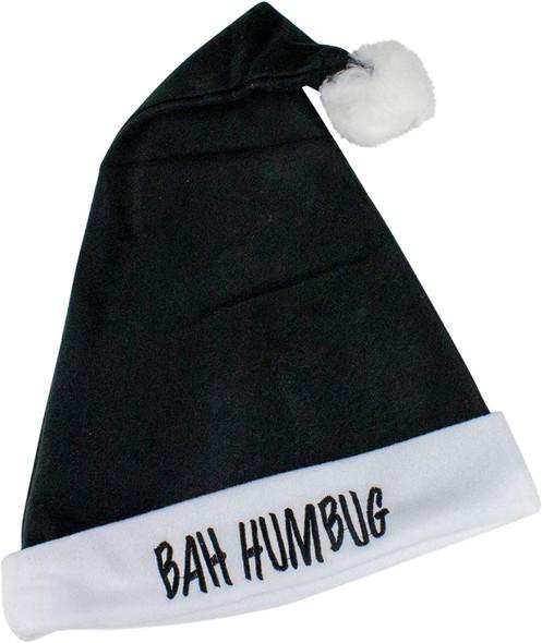 Bah Humbug Black Santa Hat 5983