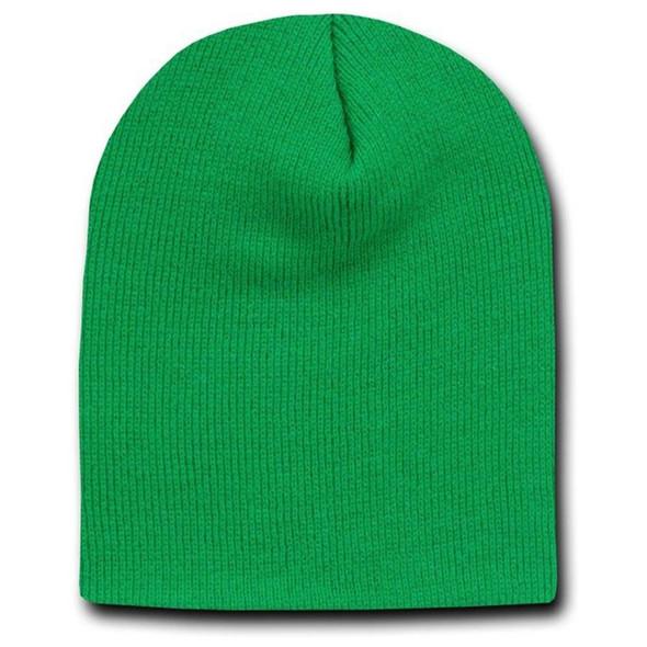 Short Beanie Kelly Green Cap Hat 5736