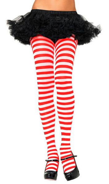 Red and White Tights Christmas 8082